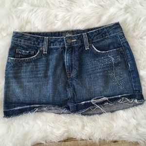 Nollie distressed mini denim skirt juniors 3
